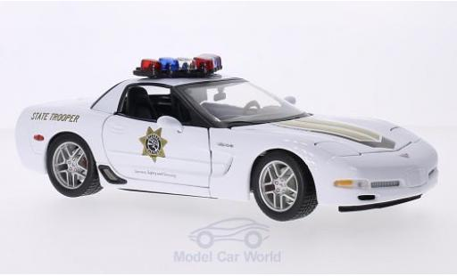 Chevrolet Corvette 1/18 Maisto (C5) Z06 State Trooper Highway Division miniature