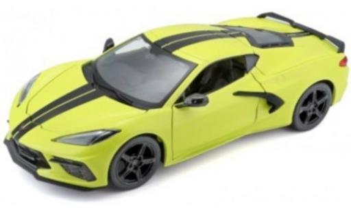 Chevrolet Corvette 1/24 Maisto C8 Stingray Z51 jaune/noire 2020 miniature