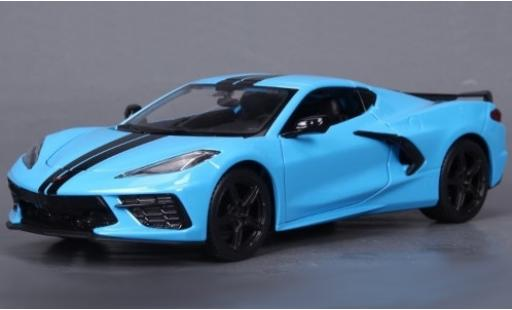 Chevrolet Corvette 1/24 Maisto C8 Stingray Z51 bleue/noire 2020 miniature