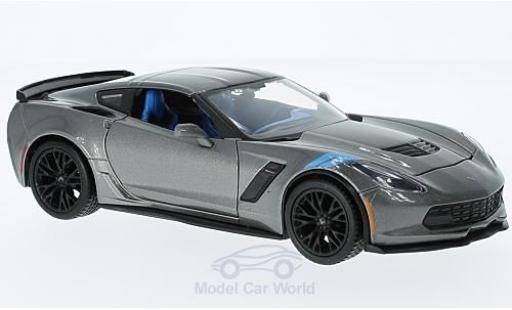 Chevrolet Corvette 1/24 Maisto Grand Sport metallic grey 2017 ohne Vitrine diecast
