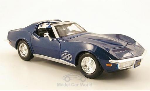 Chevrolet Corvette C3 1/24 Maisto metallise blue 1970 diecast model cars