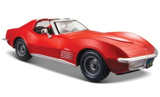 Chevrolet Corvette 1/24 Maisto rouge 1970 miniature