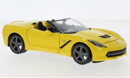 Chevrolet Corvette 1/24 Maisto Stingray (C7) Convertible yellow 2014 diecast model cars