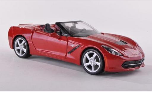 Chevrolet Corvette 1/24 Maisto Stingray (C7) Convertible metallise rouge 2014 miniature