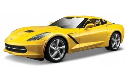 Chevrolet Corvette 1/18 Maisto Stingray (C7) jaune 2014 miniature