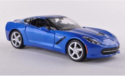 Chevrolet Corvette 1/24 Maisto Stingray (C7) metallise bleue 2014 miniature
