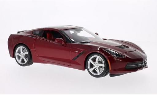 Chevrolet Corvette 1/18 Maisto Stingray (C7) metallise rouge 2014 miniature