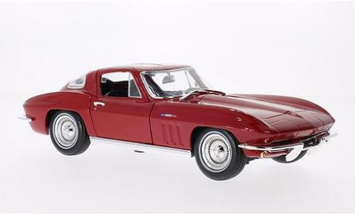 Chevrolet Corvette 1/18 Maisto Stingray rouge 1965 miniature