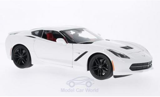 Chevrolet Corvette C7 1/18 Maisto Stingray Z51 (C7) blanche 2014 miniature