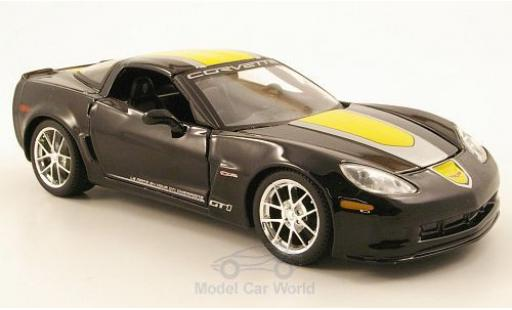 Chevrolet Corvette C6 1/24 Maisto GT1 nero 2009 Commemorative Edition miniatura
