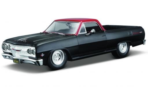 Chevrolet El Camino 1/24 Maisto matt-noire/rouge 1:25 miniature