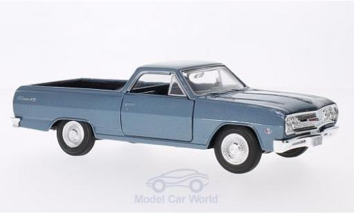 Chevrolet El Camino 1/24 Maisto metallic-bleue 1965 miniature