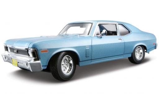 Chevrolet Nova 1/18 Maisto SS Coupe metallise bleue 1970 miniature