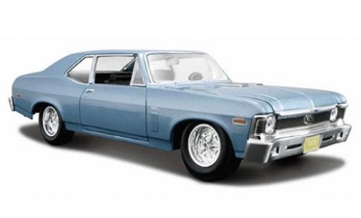 Chevrolet Nova 1/24 Maisto SS metallise blue 1970 diecast model cars