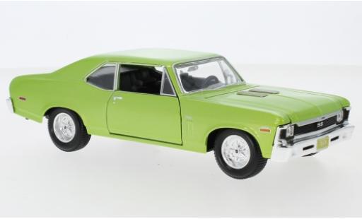 Chevrolet Nova 1/24 Maisto SS metallise green 1970 diecast model cars