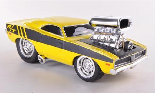 Dodge Charger 1/24 Maisto R/T jaune/noire 1969 miniature