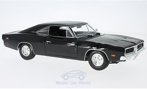 Dodge Charger 1969 1/18 Maisto R/T black diecast model cars