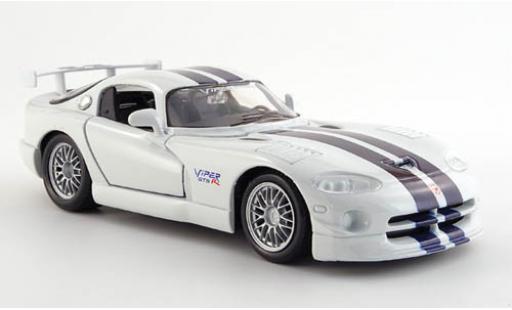 Dodge Viper 1/24 Maisto GT 2 blanche avec noire-bleu Streifen miniature