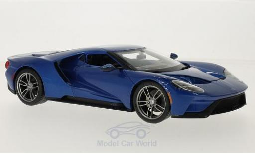 Ford GT 1/18 Maisto metallic-bleue 2017 miniature