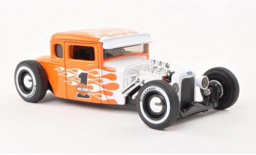 Ford Model A 1/24 Maisto Hot Rod No.1 orange/Dekor Harley-Davidson 1929 modellautos