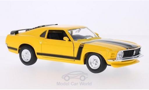 Ford Mustang 1/24 Maisto Boss 302 jaune 1970 miniature