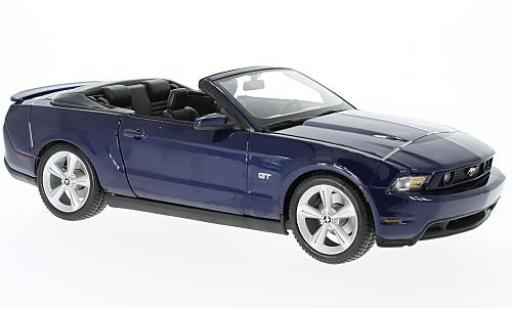 Ford Mustang 1/18 Maisto GT Convertible metallise blue 2010 diecast model cars