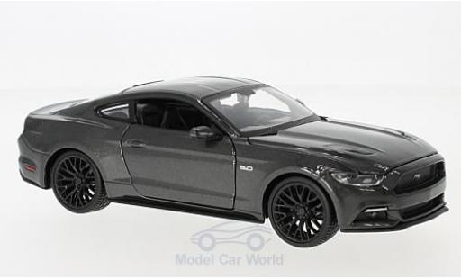 Ford Mustang 1/24 Maisto GT metallise grise 2015 miniature