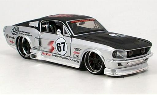 Ford Mustang 1/24 Maisto GT gris/negro 1967 sans Vitrine coche miniatura