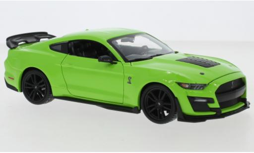 Ford Mustang 1/24 Maisto Shelby GT500 verte 2020 miniature