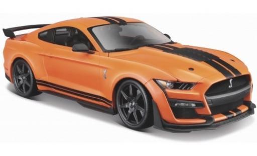 Ford Mustang 1/24 Maisto Shelby GT500 orange/black 2020 diecast model cars