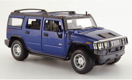 Hummer H2 1/24 Maisto Station Wagon metallise bleue 2003 1:27 miniature