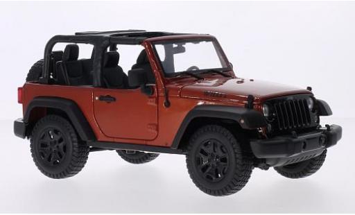 Jeep Wrangler 1/18 Maisto metallise bronze 2014 miniature