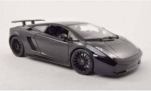 Lamborghini Gallardo 1/18 Maisto Superlegerra metallise noire 2007 miniature