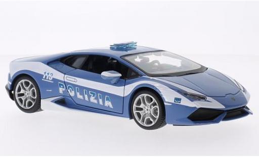 Lamborghini Huracan 1/24 Maisto LP 610-4 2014 police (I) miniature