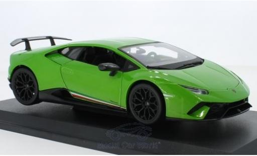 Lamborghini Huracan 1/18 Maisto Performante metallise green 2018 diecast model cars