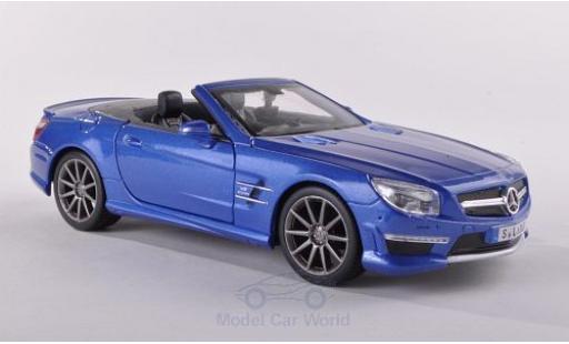 Mercedes Classe SL 1/24 Maisto SL63 AMG metallise blue diecast model cars