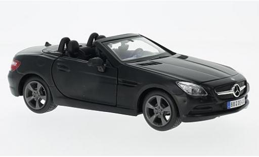 Mercedes Classe SLK 1/24 Maisto SLK-Klasse (R172) matt-black 2011 diecast model cars