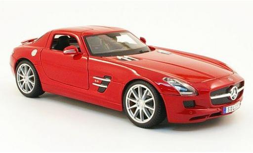 Mercedes SLS 1/18 Maisto AMG (C197) metallise red 2010 diecast model cars