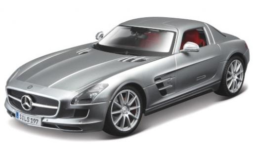 Mercedes SLS 1/18 Maisto AMG (C197) grey 2010 diecast model cars