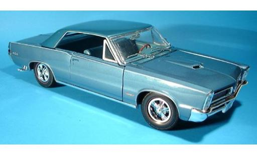 Pontiac GTO 1/18 Maisto Hurst metallise bleue 1965 sans Vitrine miniature