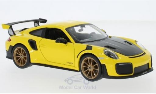 Porsche 911 1/24 Maisto (991.2) GT2 RS yellow/black 2018 diecast
