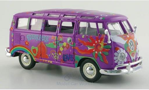 Volkswagen T1 B 1/24 Maisto Samba us lila/Dekor Hippie Massstab 1:25 miniature