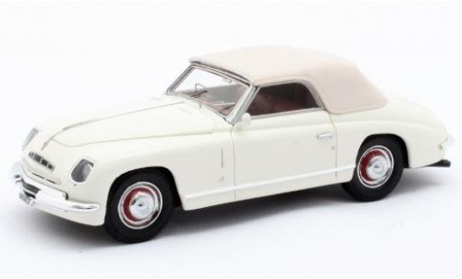 Alfa Romeo 6C 1/43 Matrix 2500 Ghia Convertible blanche RHD 1947 Verdeck fermé miniature