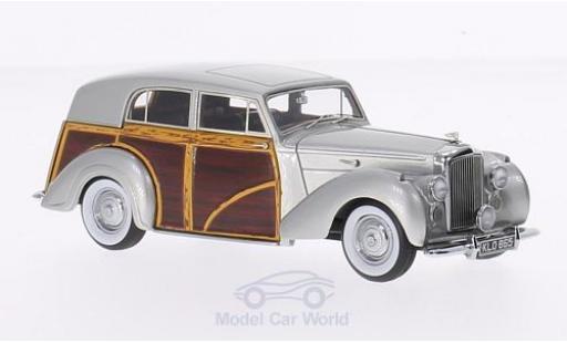 Bentley Mark 6 1/43 Matrix MK VI Harold Radford Countryman métallisé grise/Holzoptik RHD 1950 Chassis B441DZ miniature