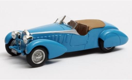 Bugatti 57 1/43 Matrix Type TT Tourer by Bertelli bleue RHD 1935 Fahrgestellnr. 316 Therese miniature