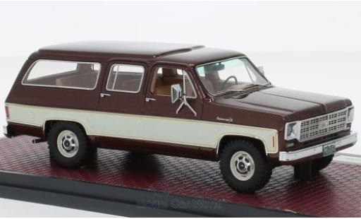 Chevrolet Suburban 1/43 Matrix K10 metallise rouge/beige 1978 miniature