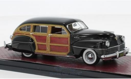 Chrysler Town & Country 1/43 Matrix Wagon noire/Holzoptik 1942 miniature