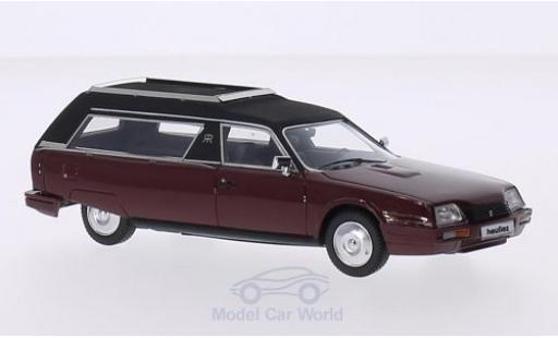 Citroen CX 1/43 Matrix Heuliez Corbillard Hearse rouge/matt-noire 1979 miniature
