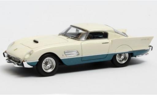 Ferrari 410 1/43 Matrix Superamerica Superfast Speciale blanche/metallise bleue 1956 miniature