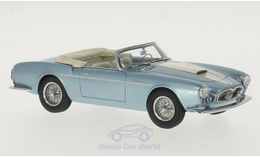 Maserati A6 1/43 Matrix G 2000 Gran Sport Spyder Frua metallise bleue/beige 1957 Louwman Museum Collection miniature